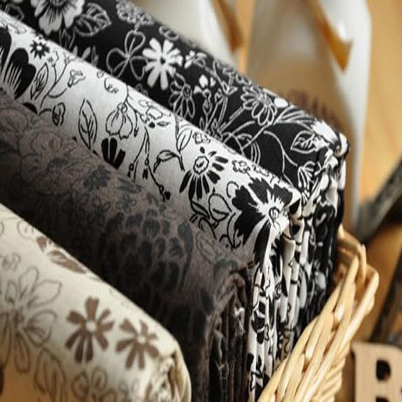 25x24cm zwart wit grijs mooie bloem bedrukte katoenen stof bundel - Kunsten, ambachten en naaien