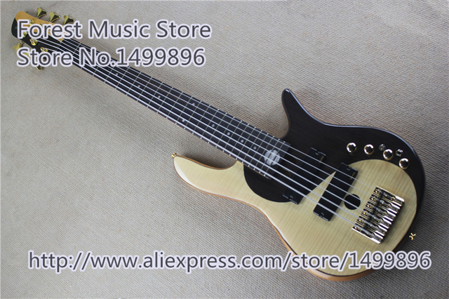 Cheap High Quality Chinese Fodera Yin Yang 6 String Electric Bass Guitar With Gold Hardware For Sale