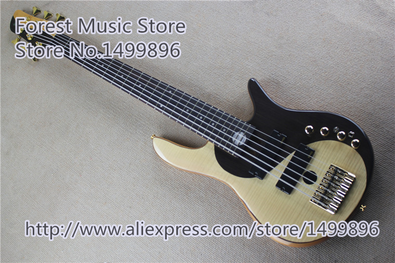 High Quality Chinese Fodera Yin Yang 6 String Electric Bass Guitar With Gold Hardware For Sale