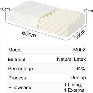 Image 5 - PurenLatex 60x38 Таиланд чистый натуральный ортопедический латекс подушка для шеи шейный защитный позвоночник массаж коррекция тела подушки