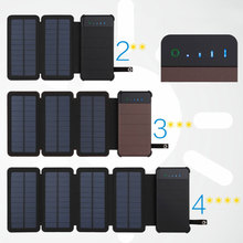New Solar Panel Sun power Battery Power Bank 10000mAh Universal Portable Mobile Phone Power Charger Can Remove External Battery jy 45 16800mah mobile external power source battery charger white green