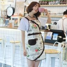 Original Korean version apron lovely princess kitchen work clothes oil proof coffee shop smock