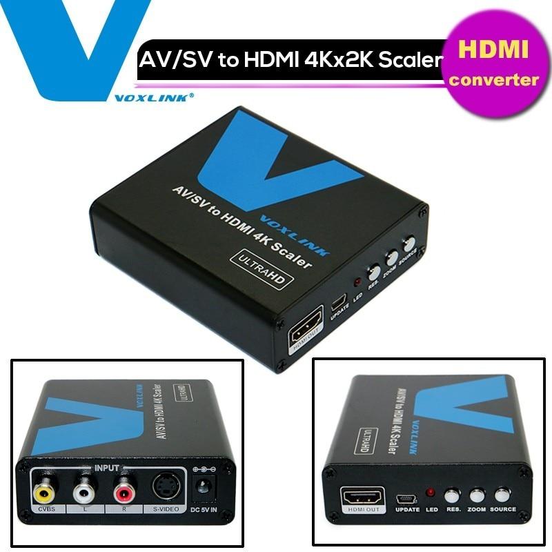 1080P Composite AV RCA S Video to HDMI 4K 2k Scaler Video Audio Converter Adapter Box