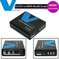 1080P Composite AV RCA/S-Video to HDMI 4K *2k Scaler Video & Audio Converter Adapter Box for DVD HDTV