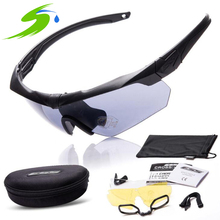 Ess Tactical Glasses Military Goggles TR90 Bullet-proof Army Sunglasses With 3 Lens Original Box Men Shooting Eyewear Gafas