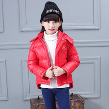 2016 Hot Sale Girls Boys Short Winter Coats 5 Solid Colors Kids Duck Down Jackets Children Thick Down Outwear With a Hood 3-12T