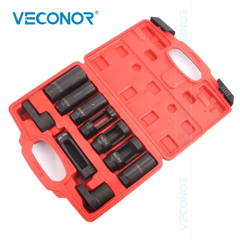10Pcs Oxygen Sensor Socket Diesel Injection Sensor Set Oil Pressure Black Oxide Polish
