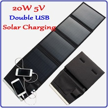 20W Monocrystalline Solar Panel Charger, portable folding iphone mobile phone power bank etc digital products solar charger