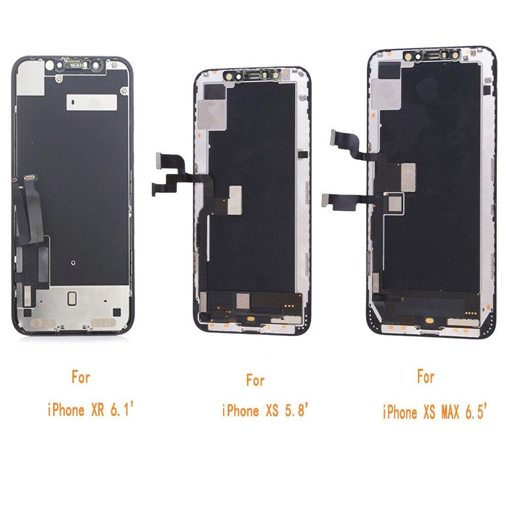 Sinbeda AAA + + + Qualité OEM OLED LCD Écran Pour iPhone XS MAX XR LCD Affichage Tactile Assemblée D'écran Digitizer Remplacement partie