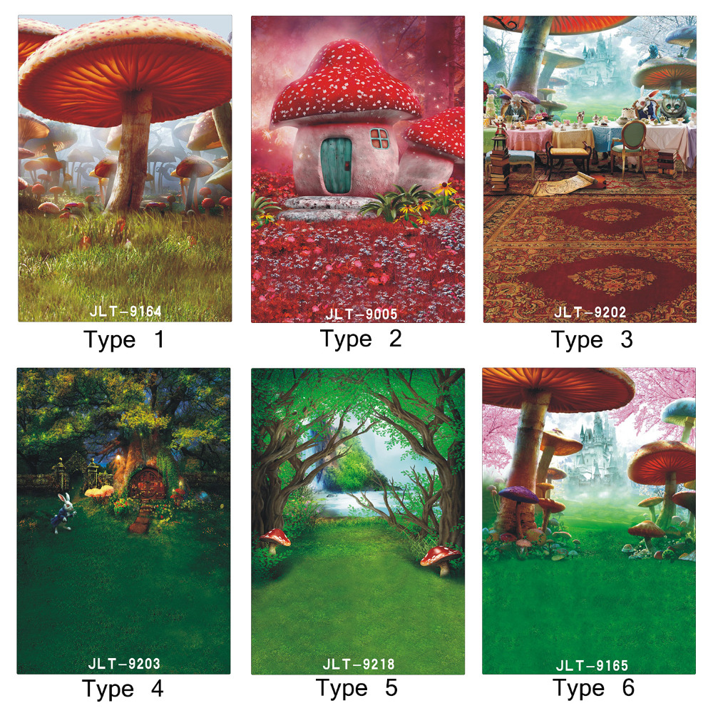 Fairy Tale Mushroom Moive 5X7ft Photography Backdrops for Photo studio Photographic Backgrounds for Children Baby Photo Shooting fairy tale arch printed newborn baby photo backdrops art fabric backdrop for studio children photography backgrounds d 9822