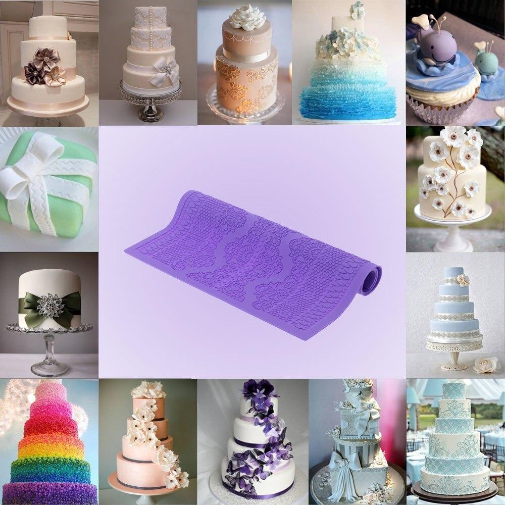 Mijiang Purple Non Stick Silicone Mold Fondant Cakes