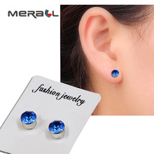 1pair Magnet Colorful Diamond Stud Earring Slimming Weight Loss Anti Cellulite For Men Women Health Care Iron Ear Nail Products