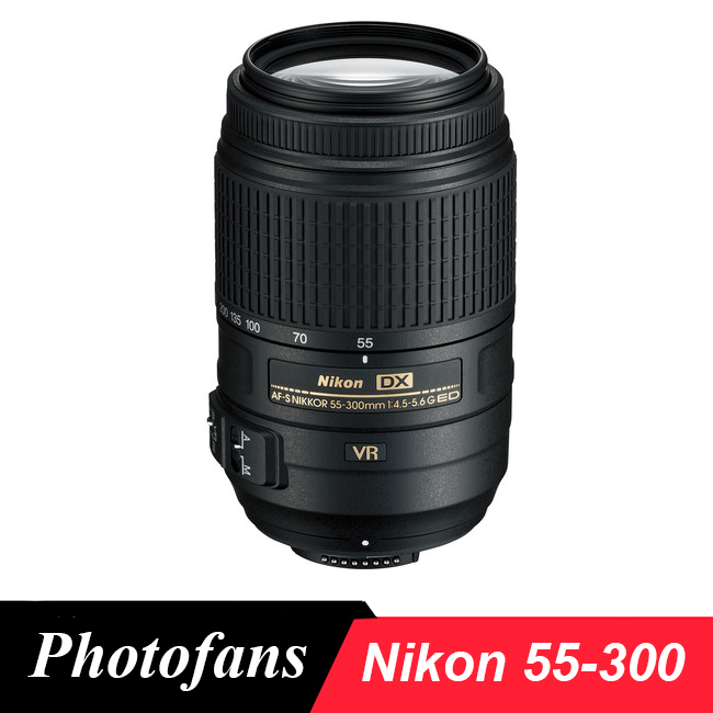 Nikon 55-300 Lens Nikkor AF-S 55-300mm f/4.5-5.6G ED VR lenses for D3200 D3300 D3400 D5200 D5300 D5500 D5600 D7100 D7200 D90