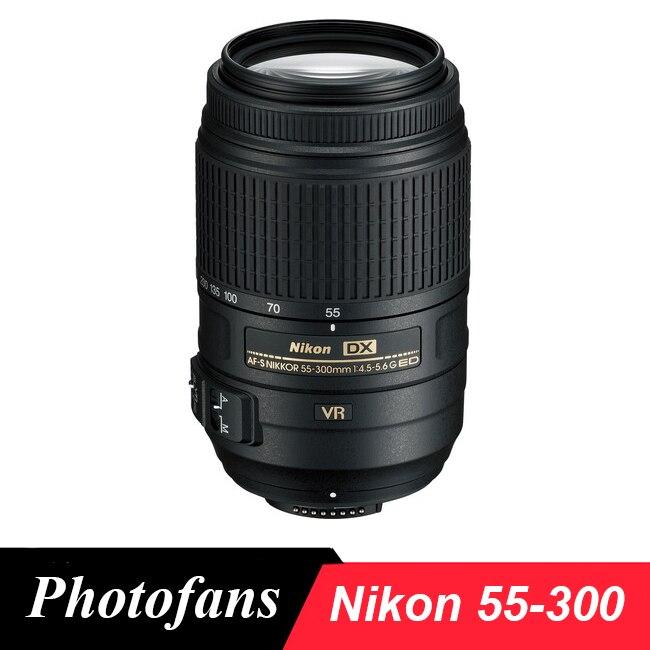 Nikon 55-300 Objectif Nikkor AF-S 55-300mm f/4.5-5.6g ED VR lentilles pour D3200 D3300 D3400 D5200 D5300 D5500 D5600 D7100 D7200 D90