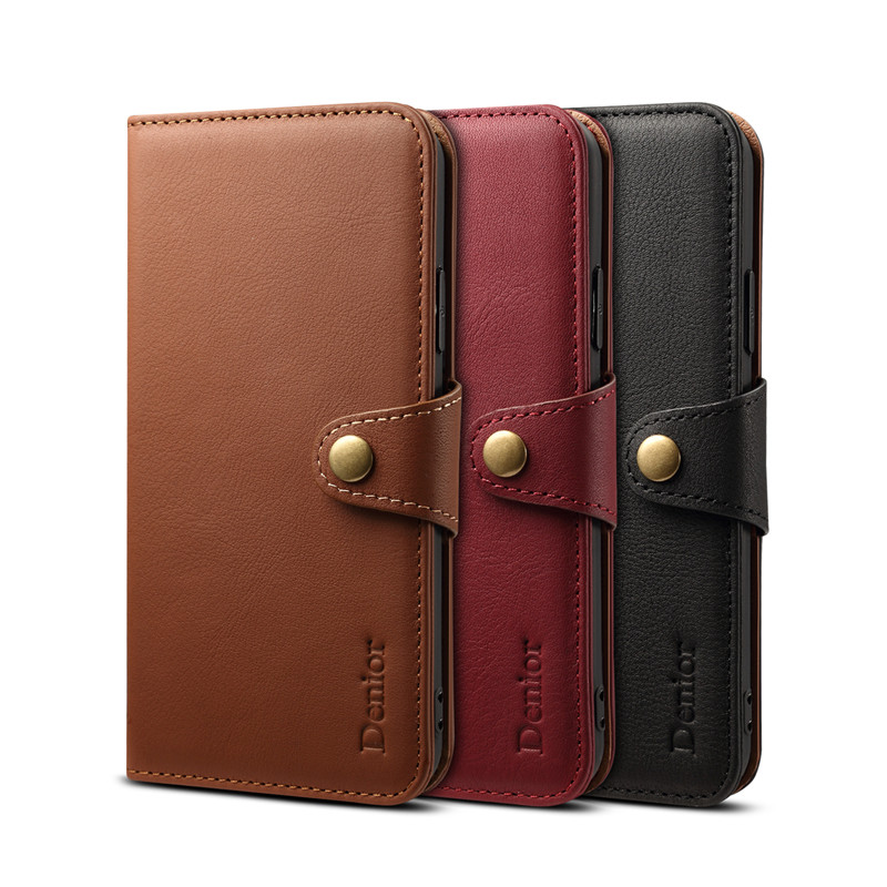 NEWISDOM for iPhone X case NATURAL Leather luxury Cover Card Holder Wallet mobile Phone for iPhone