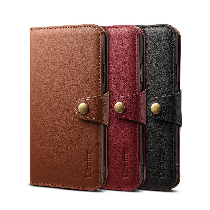 Nouveauté pour iPhone X étui en cuir naturel couverture de luxe portefeuille porte-cartes téléphone mobile pour iPhone Xs max étuis 7/8 plus