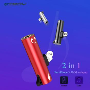 For iPhone To 3.5mm Jack Headphone 2in1 Audio Adaptador For iPhone 7 8 Plus X XS Max Splitter Earphone Adapter Connector Charger