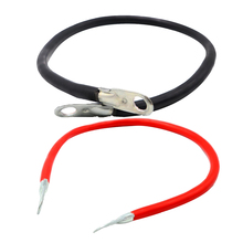 Pair Car Marine Boat RV 5AWG Gauge Copper Battery Cable Power Inverter Wire Black &  Red