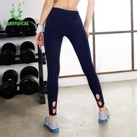 VANSYDICAL Women Compression Sports Yoga Pants Leggins Sport Women Fitness Jogging Jogger Running Trousers For Women Leggings XL