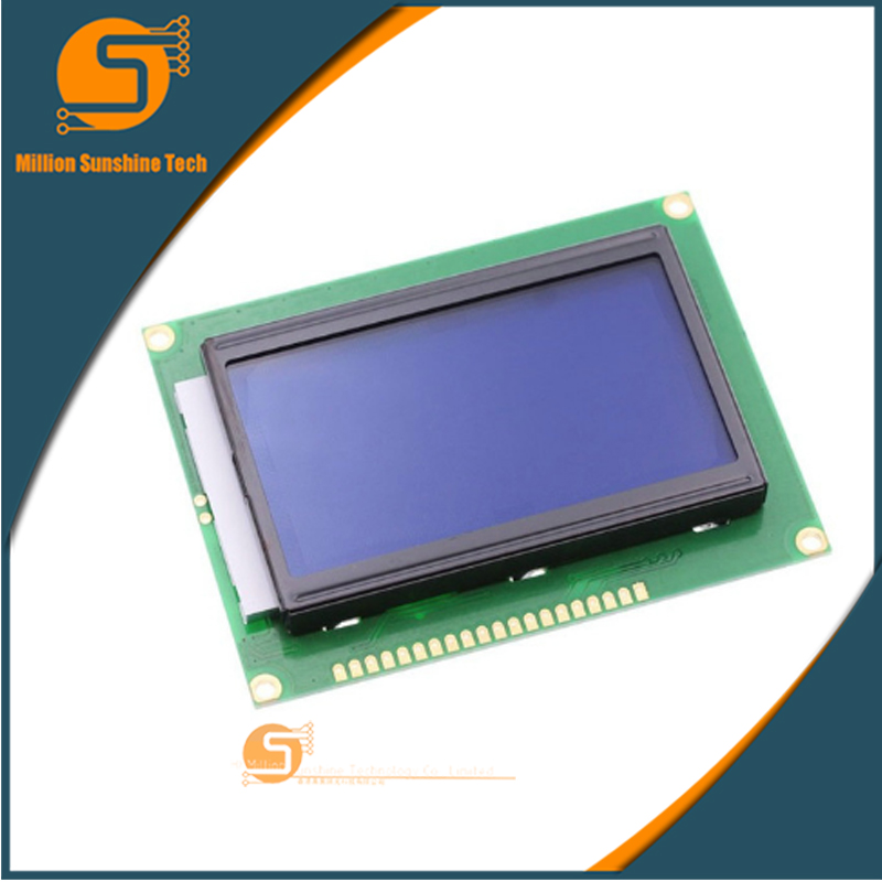 LCD Board 12864 LCD12864 5V Display With Chinese Word Stock With Backlight 12864-5V ST7920 Parallel Port