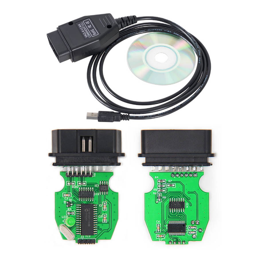 VAG K+CAN Commander 1 4 With FTDI FT232RQ PIC18F258K80 Chip vag USB OBD  Diagnostic Interface OBD2 OBDII Cable For VAG Series