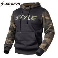 S ARCHON Spring Casual Camouflage Men Sweatshirts Military Style Hooded Pullover Hoodies Male Fleece Long Sleeve