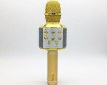 K51 Беспроводной караоке микрофон Bluetooth ручной телефон микрофона музыка Динамик музыкальный плеер для iPhone Android Бесплатная доставка