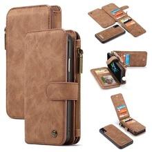 Для iPhone 11 кошелек Чехол 2 в 1 съемный чехол-книжка Магнитный кожаный чехол для iPhone XS Max iPhone XS 7 7Plus 8 6S Coque