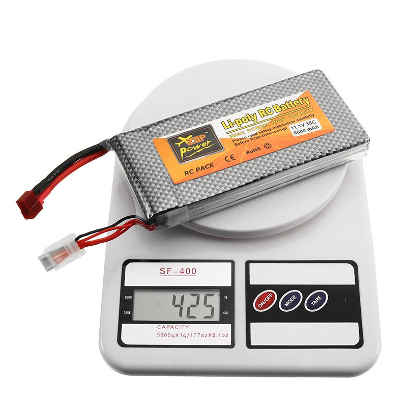 High Quality ZOP Power 11.1V 6000mah 35C 3S Lipo Battery T Plug for RC Quadcopter Car FPV Racing Drone Helicopter Spare Parts
