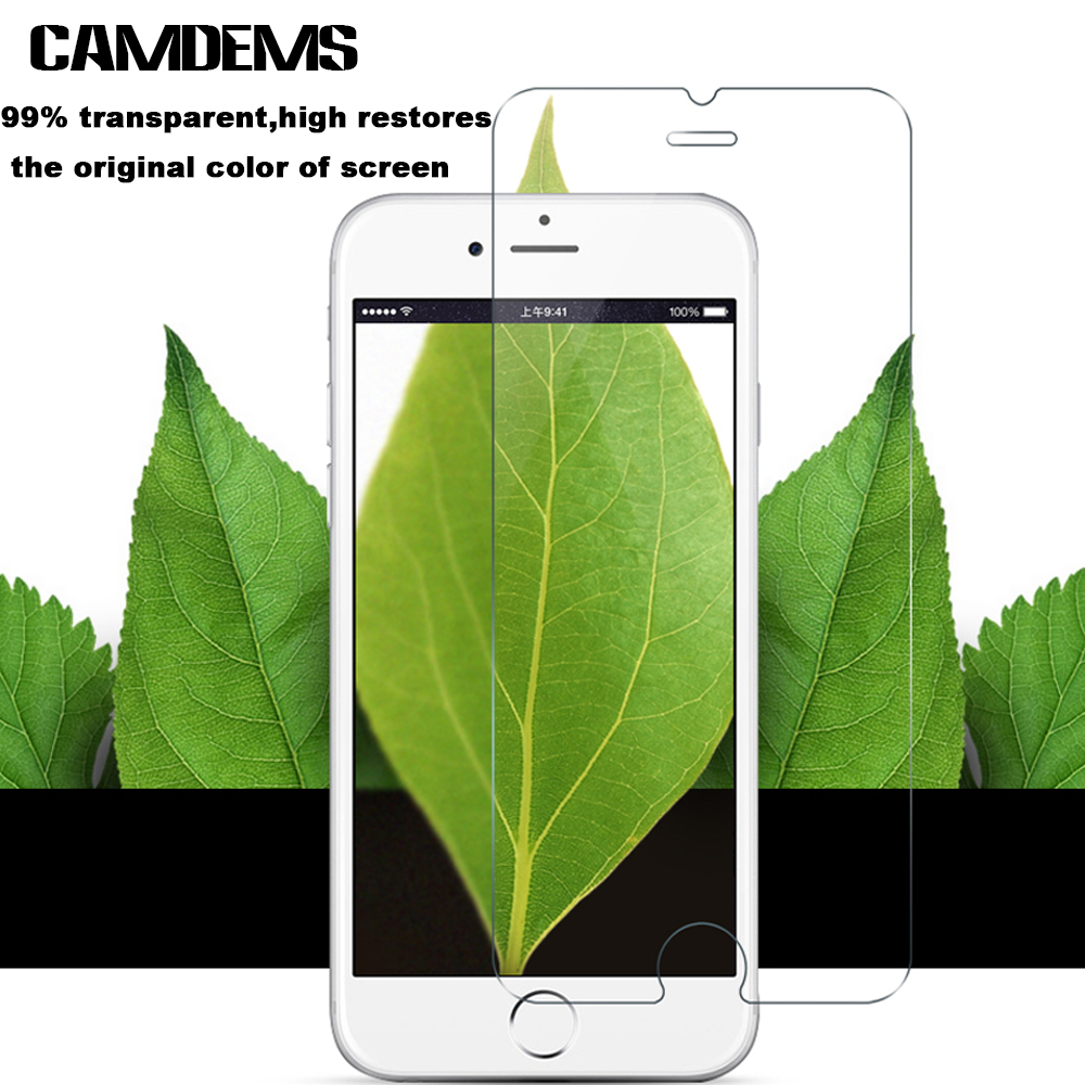 CAMDEMS 100pcs lot 2 5D 0 3mm Tempered Glass Screen Protector protective film for iPhone xs