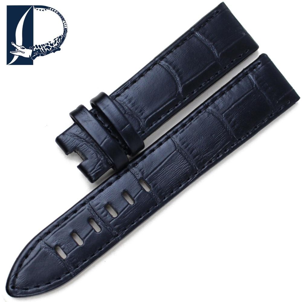 Pesno Armbandsur med äkta läder Svart Brun Kalvskinnsrem 20 mm 22mm - Tillbehör klockor - Foto 4