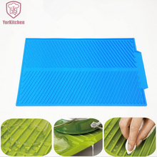 43*33CM 324G Big Portable Useful Non-Toxic New Design Silicone Dish Drying Mat For Free Shipping