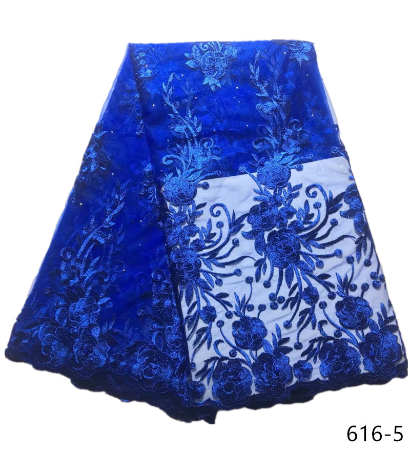 French lace fabric 5yds/pce royal blue sequins laces for women gorgeous bright dress 2019 high quality new arrival asoebi 616French lace fabric 5yds/pce royal blue sequins laces for women gorgeous bright dress 2019 high quality new arrival asoebi 616