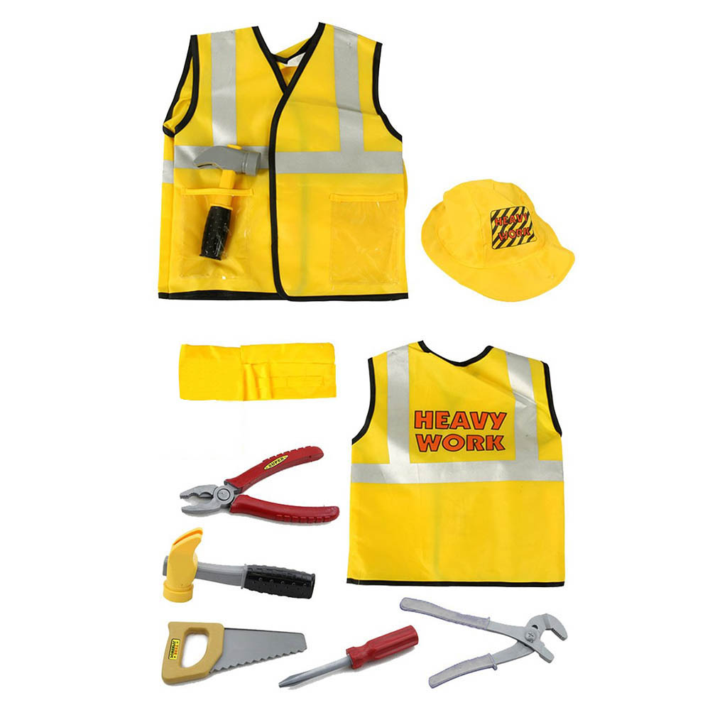 Kids Construction Worker Costume Worker Role Play Toy Set Career Costumes for Children Halloween Costumes with Accessories-in Boys Costumes from Novelty ...  sc 1 st  AliExpress.com & Kids Construction Worker Costume Worker Role Play Toy Set Career ...