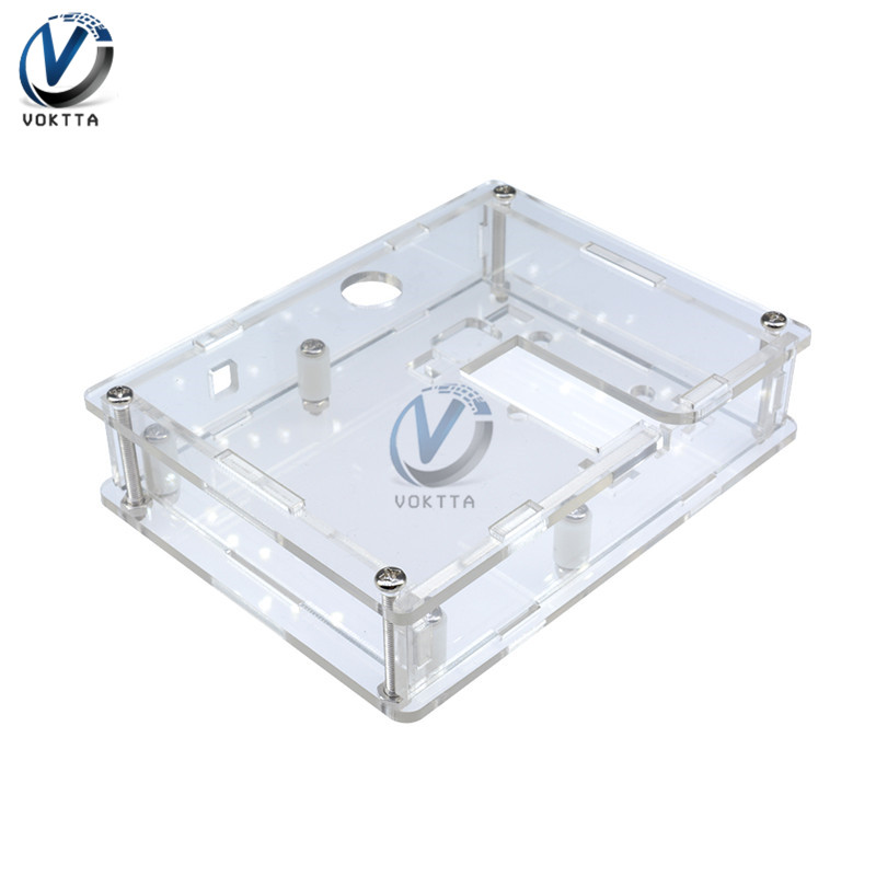 New Transparent Acrylic Case For LCR-T4 Transistor Test Diode Triode Capacitor ESR Meter Multimeters Voltmeter Ammeter Tester