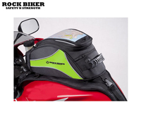 Free Shipping 2017 Rock Biker Black Green Motorcycle Magnetic Tank Bag Gear Back Pack Cruiser Sport