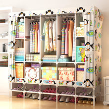 XXL Wardrobe With shoe rack Non-woven Fabric frame reinforcement Standing Storage Organizer Detachable Clothing Closet furniture