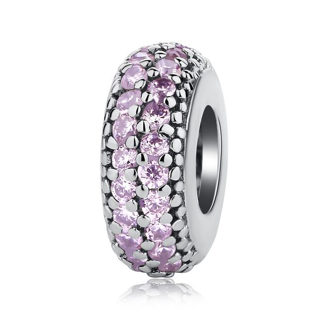 NBSAMENG Authentieke 925 Sterling Zilver Micro-pave Pure Color Spacer - Mode-sieraden - Foto 2