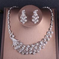 Alexzendra Crystal African Classic Wedding Jewelry Silver Color Beads Bridal Choker Necklace for Women