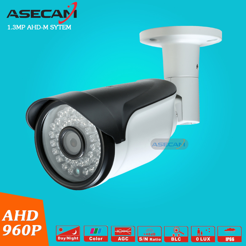 NEW CCTV AHD HD 960P Surveillance Waterproof Outdoor Metal Bullet Security Camera Infrared Night Vision 50Meter low illumination hd 1 3mp cctv 960p ahd camera 3000tvl outdoor waterproof mini small metal white bullet ir security surveillance