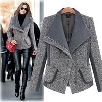 2019 New Spring Womens Large Lapel Long Sleeve Woolen Jacket Slim Thickening Short Jacket Winter Coat For Women