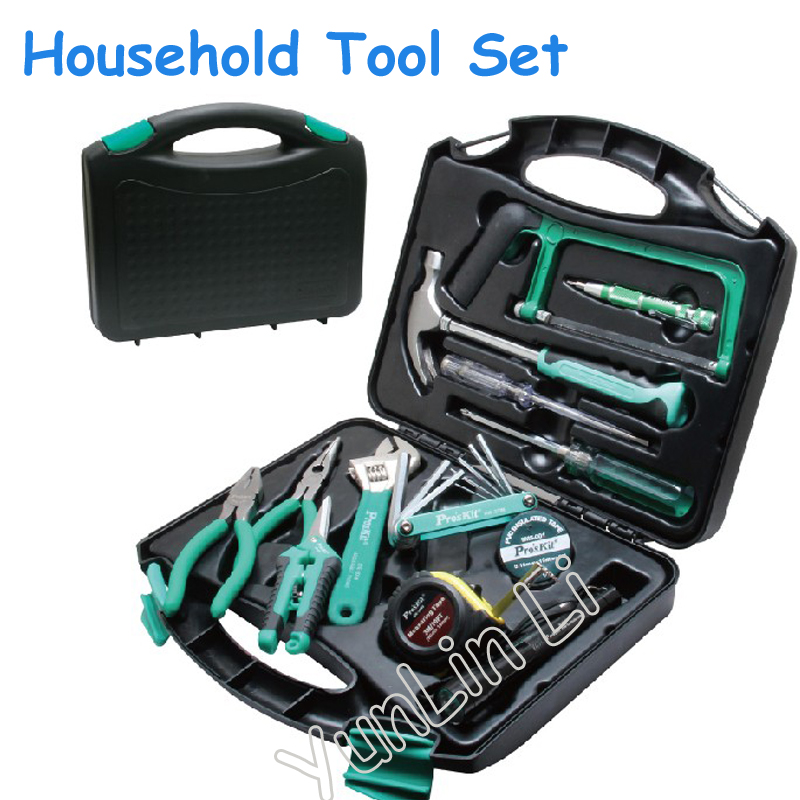 28pcs/set Household Repair Assemblage Suit Tools Portable Hardware Repair Kit Steel Saw Hammer Wrench Tape Set gub hin 181 portable bicycle stainless steel repair tool kit wrench set black
