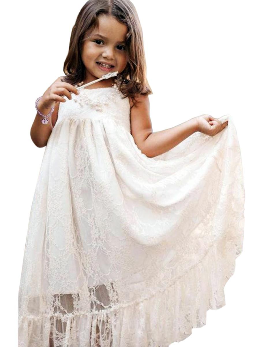 d6a6e7bce Ivory Boho Dress Lace baptism Dress White Baptism Christening Dress ...
