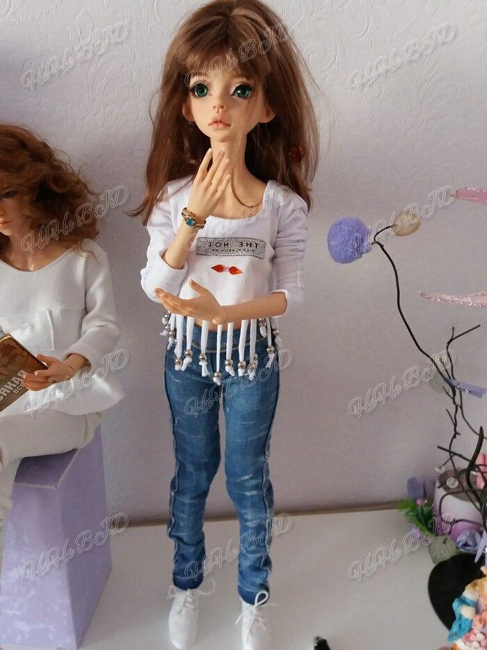 HeHeBJD 1/4 lalki Larina darmowe oczy bezpłatna wysyłka zabawka gorąca sprzedaż mody lalki nie oryginalne ciało w Lalki od Zabawki i hobby na  Grupa 2