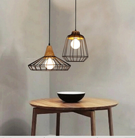 Creative Classical 110 220vRetro Pendant Lamp for E27 Edison Bulb Loft Vintage Pendant Light,Antique cage Pendant Lamps ZDD0055