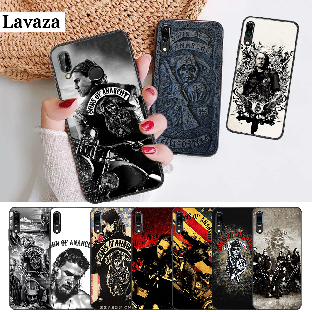 Lavaza American TV Sons of Anarchy Silicone Case for Huawei P8 Lite 2015 2017 P9 2016 Mimi P10 P20 Pro P Smart Z 2019 P30 image