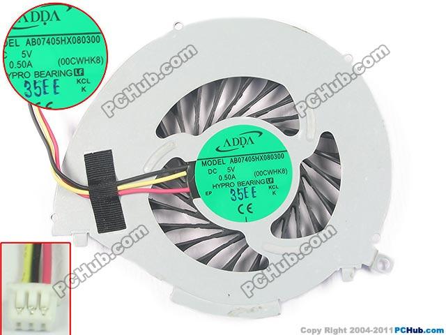 Adda AB07405HX080300 сервер ноутбук вентилятор DC5V 0.50A 3-провода