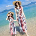 2017 Summer Beach Family Set Bohemian Mother Daughter Dress Mom and Daughter Dresses Clothes Family Matching Beach Clothing SP03