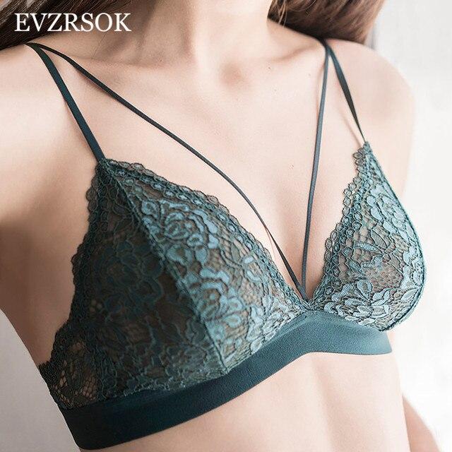 Conjunto de sujetador de lencería Sexy verde con encaje bordado  transparente conjunto de bragas con sujetador 3bd995ae11af