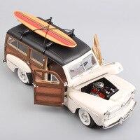 1/18 весы миниатюры Yat Ming Большой Винтаж 1948 Ford Woody woodie классический литья под давлением Металл Модель доски для серфинга коллекционная игрушка